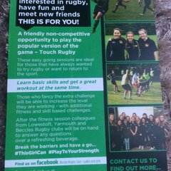 Free Taster Session - Ladies and Girls Rugby - 25th July 2015