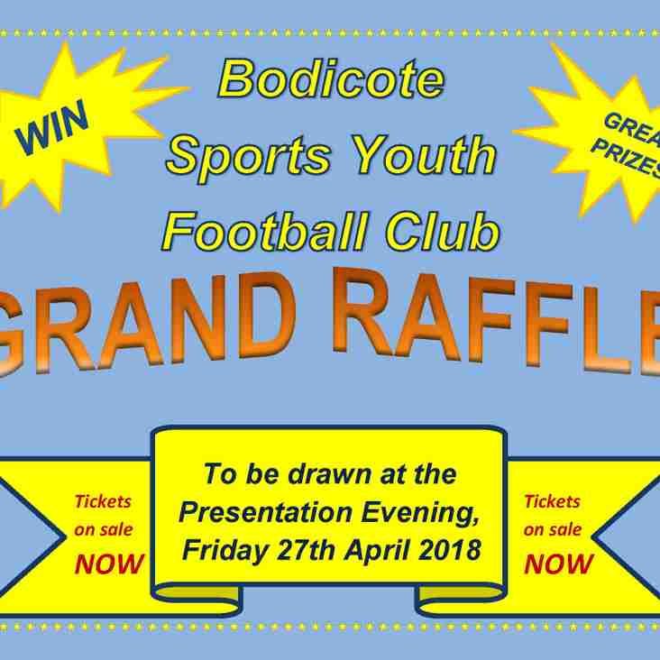 RAFFLE TICKETS ON SALE -  NOW.........