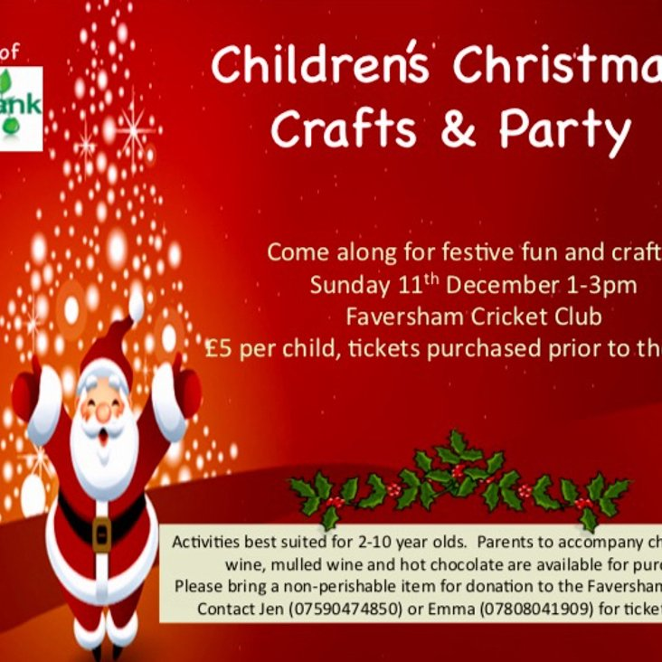 Childrens Christmas Crafts &amp; Party<