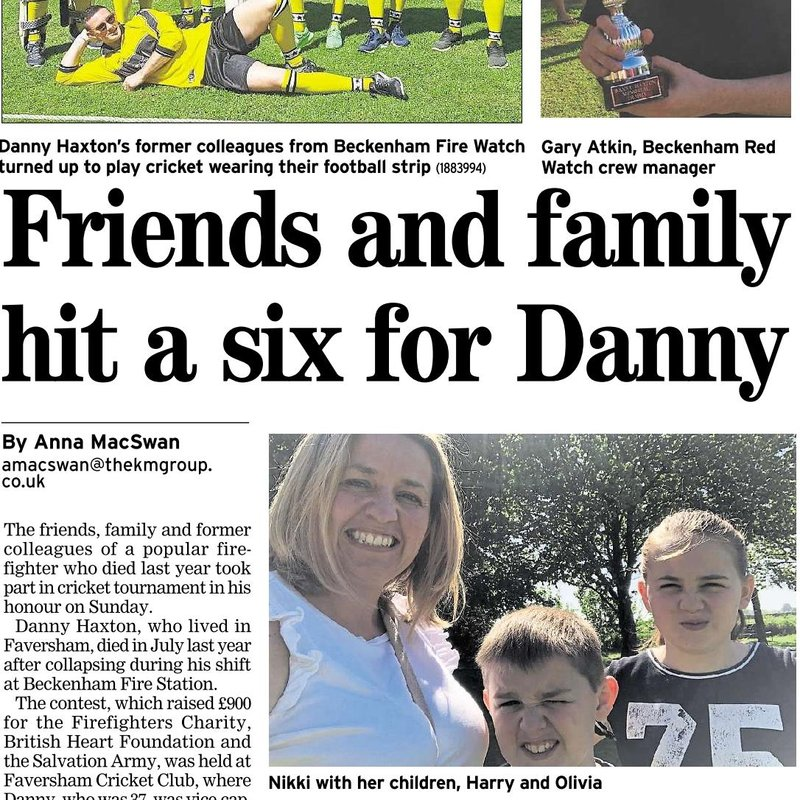 Fantastic Day for Danny Haxtons Memorial Tournament