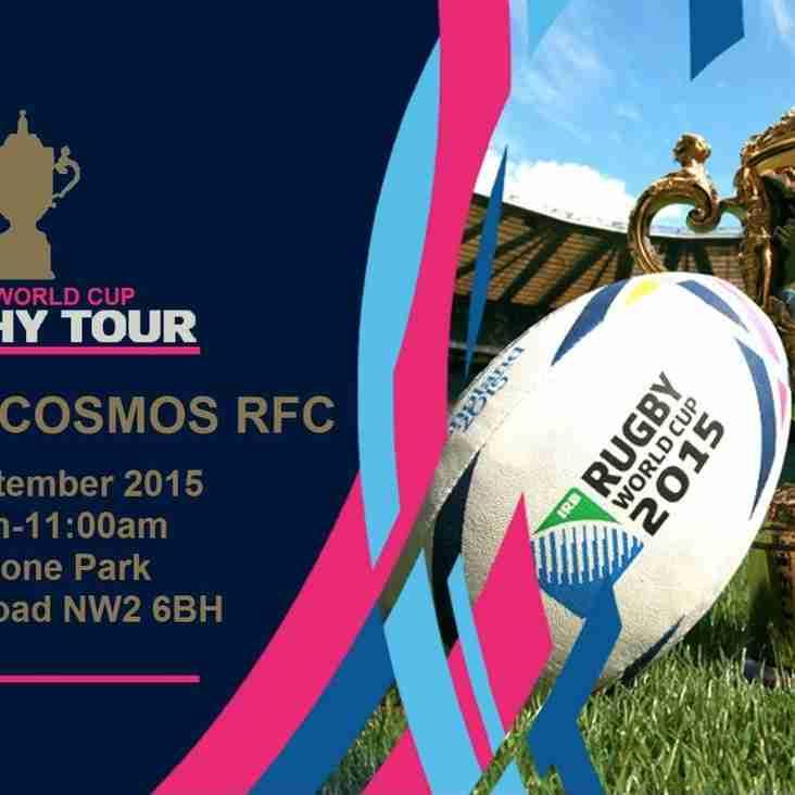 Kilburn Cosmos RFC is hosting the Webb Ellis trophy