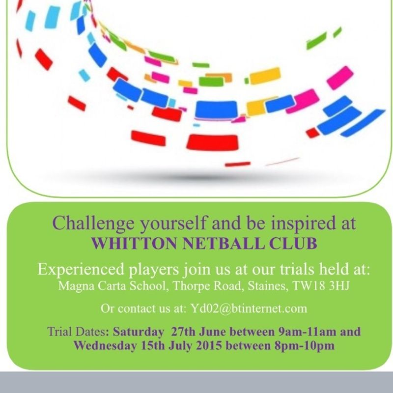 Whitton Netball Club Trials - Round 2