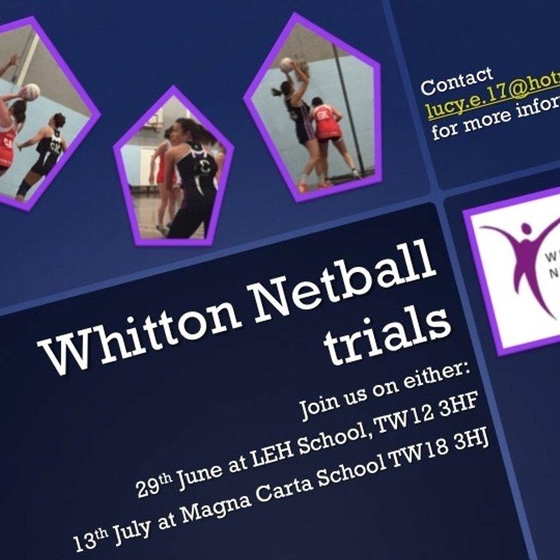 Whitton are recruiting!