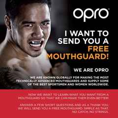 Free OPRO Mouth Guard on offer