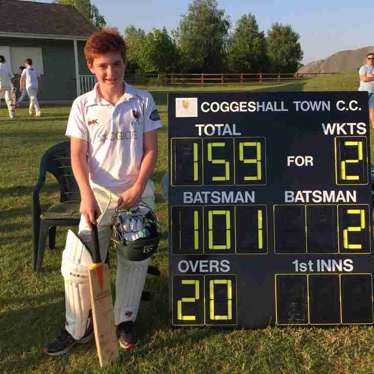 Alasdair Marlow (U13) - 101 not out!