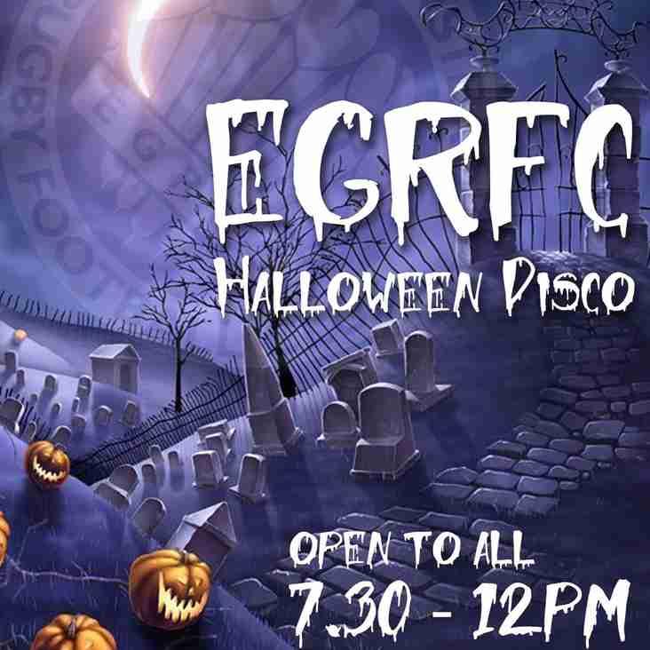 EGRFC Halloween Fancy Dress Disco 27.10.18