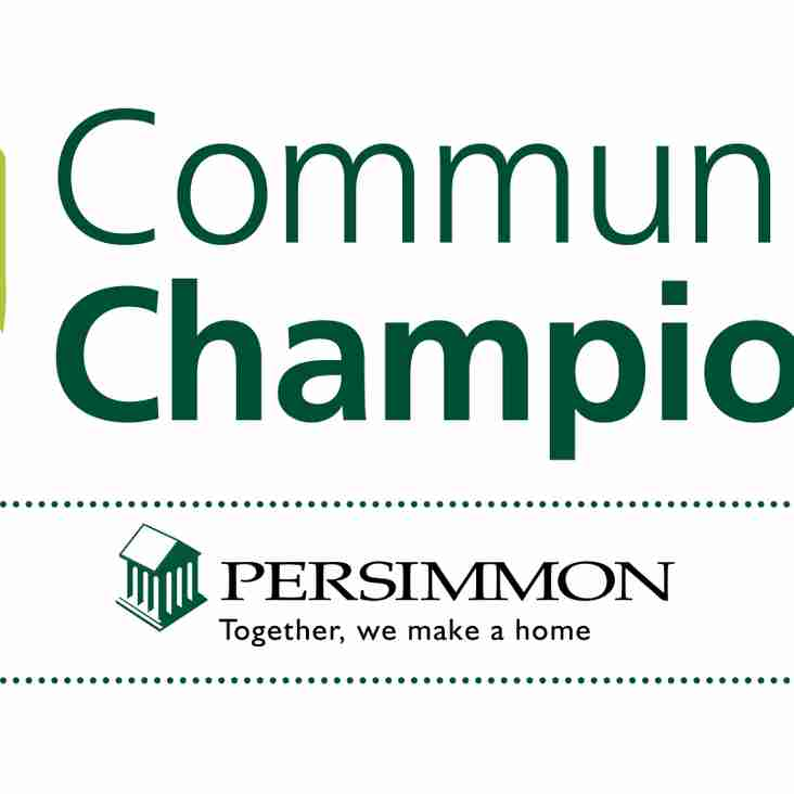 Huge Thanks To Persimmon Homes