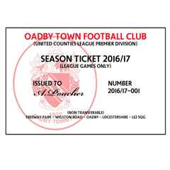 Season Ticket and Match day Tickets 2016/17