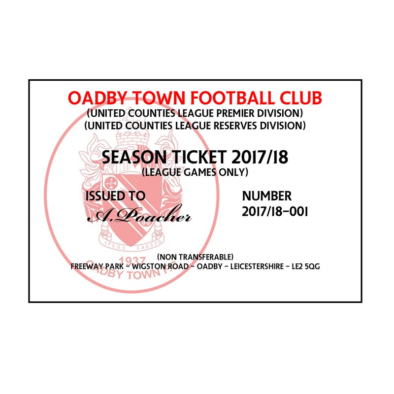 Season Ticket and Match day Tickets 2017/18