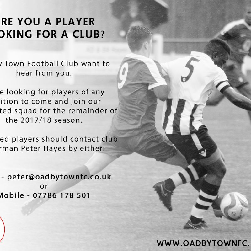 Do you want to play for your local club?