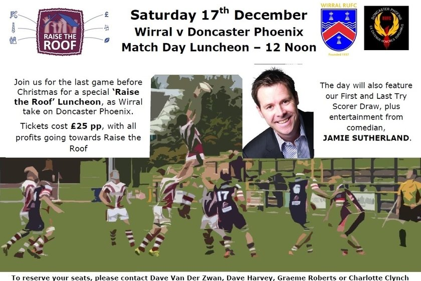 'Raise the Roof' Lunch - 17th December