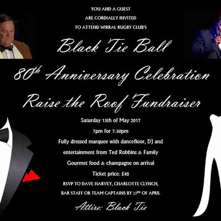 'Raise the Roof' Black Tie Ball - Saturday 13th May