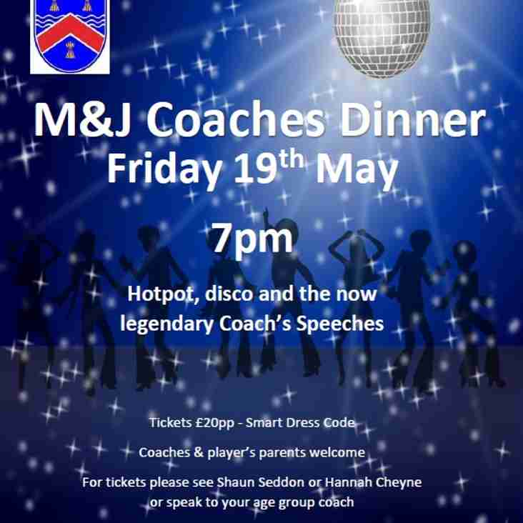 M&Js Coaches Dinner