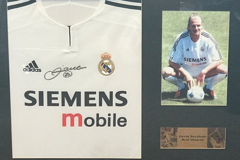 AUCTION: Signed David Beckham Real Madrid Shirt