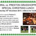 Wirral vs. Preston Grasshoppers Special Christmas Lunch