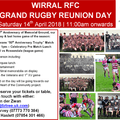 Grand Rugby Reunion Event - Saturday 14th April