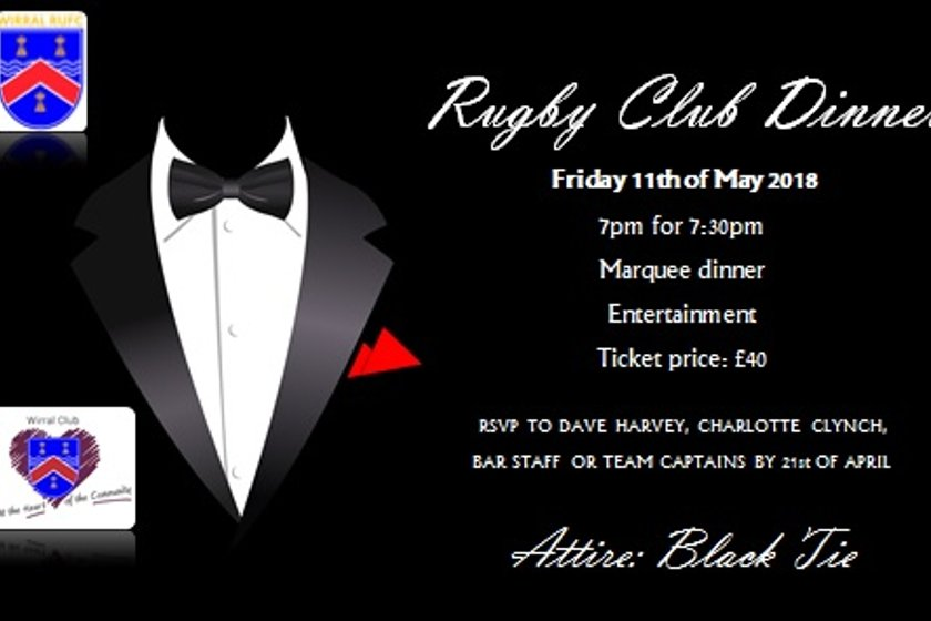 81st Annual Club Dinner - Friday 11th May