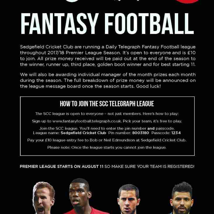 Fantasy Football returns to SCC.......