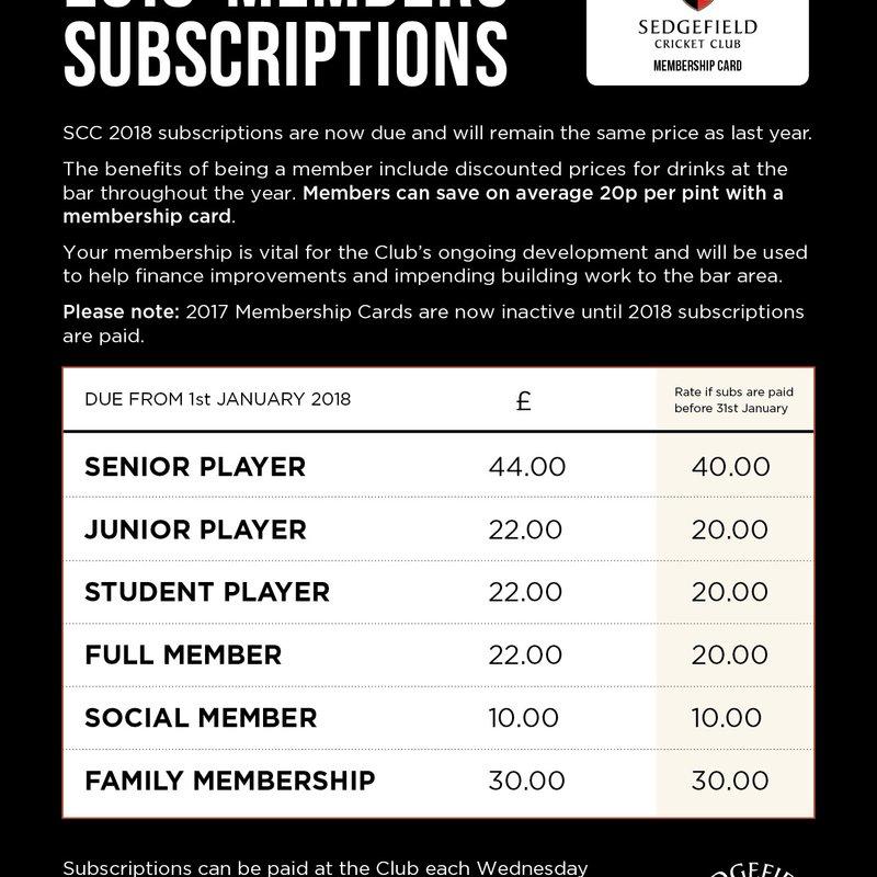 Membership Renewal 2018