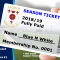 Admission and Season Tickets Prices for 2018/19 amended