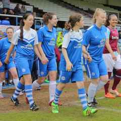 Mascots/ball girls at posh vs West Ham ladies 21.05.16