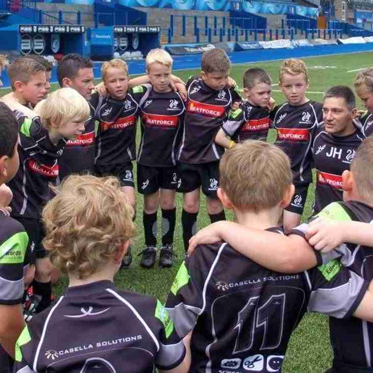 U7s final training session at the Cardiff Arms Park
