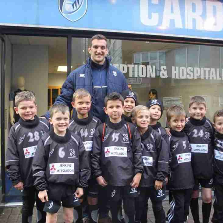 U8s Squirrels Cardiff Blues Half Time Tag