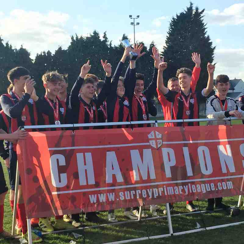 2017 Surrey Primary League Cup Winners