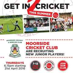 Junior Cricket Outdoor Sessions Starting next month.....