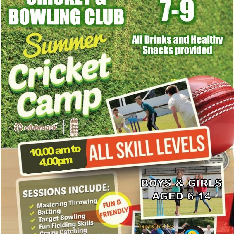 Summer Cricket Camp - 7th - 9th August 2019