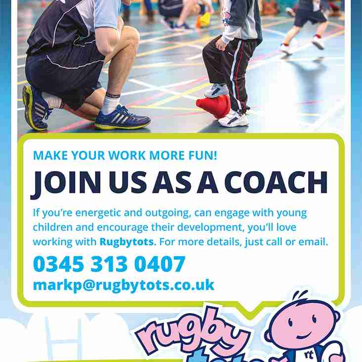 Rugby Tots are Recruiting!