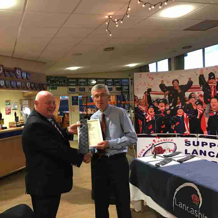 SP M+J Fixtures Secretary Roger Berry wins Lancashire County RFU Volunteers Award