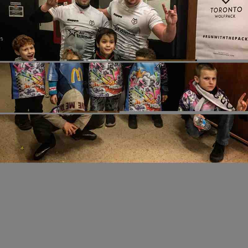 Mississauga Blues U8, 10, 12 and the Toronto Wolfpack