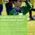 Looking for an u9s or u10s football team?