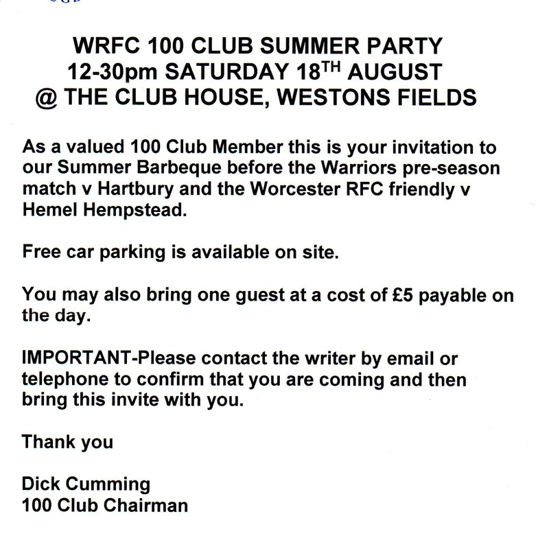 100 Club Summer Party