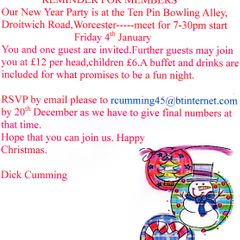 100 Club Party Invite