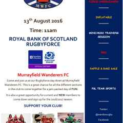 Murrayfield Wanderers FC RBS Rugbyforce day