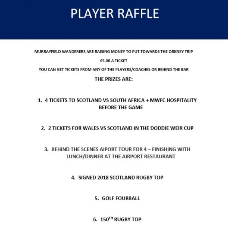 Murrayfield Wanderers FC Raffle
