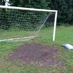 Goalmouth surgery...