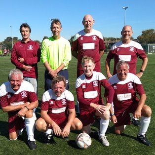 UNBEATEN  CLARETS CLINCH THE OVER 60's LEAGUE TITLE WITH 3 GAMES TO GO!!