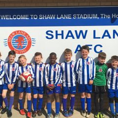 Shaw Lane AFC U8's 1st team Mascots