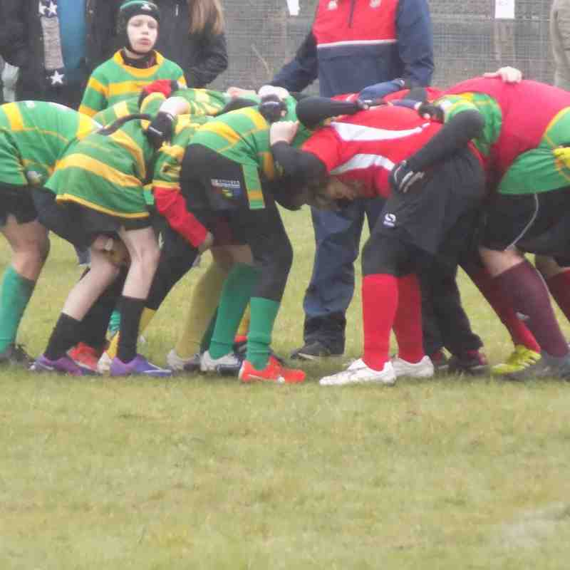Youth Under 13's game with Crusaders Jan 2016