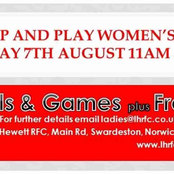 Pitch Up and Play Women's Rubgy, 7th August