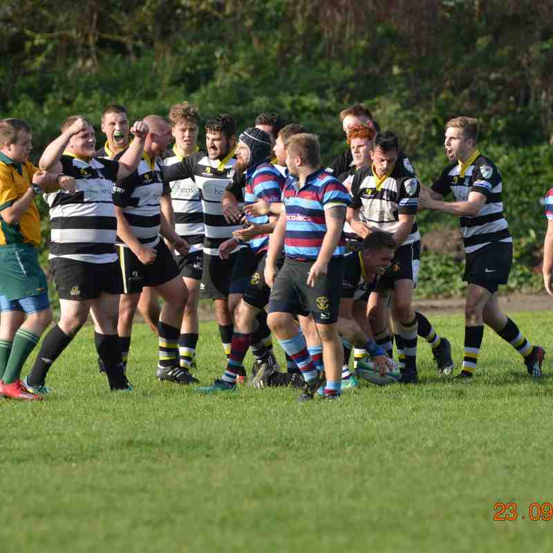 R&H RFC 1st XV v BBOB - great 22-16 win kick-starts the season - greatly improved performance bodes well for the season