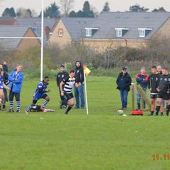 Rushden 1stxv vs St.Ives - 8 - 42 defeat but gutsy display - fabulous consolation try by Oli Middleton was a highlight!