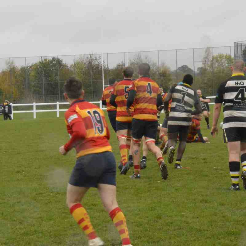 1stXV vs Stockwood Park - R&H RUFC in 15-15 drawn tight game in poor conditions