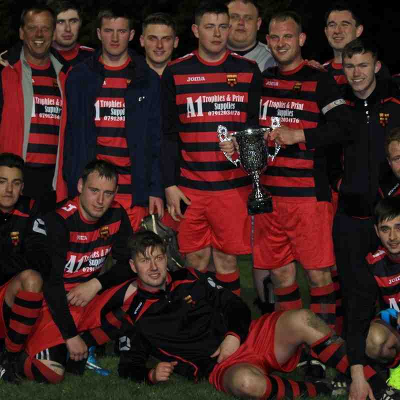 Division One Cup Final : Denaby Utd Academy v Hemsworth Elite : Sponsored by Darts in Donny