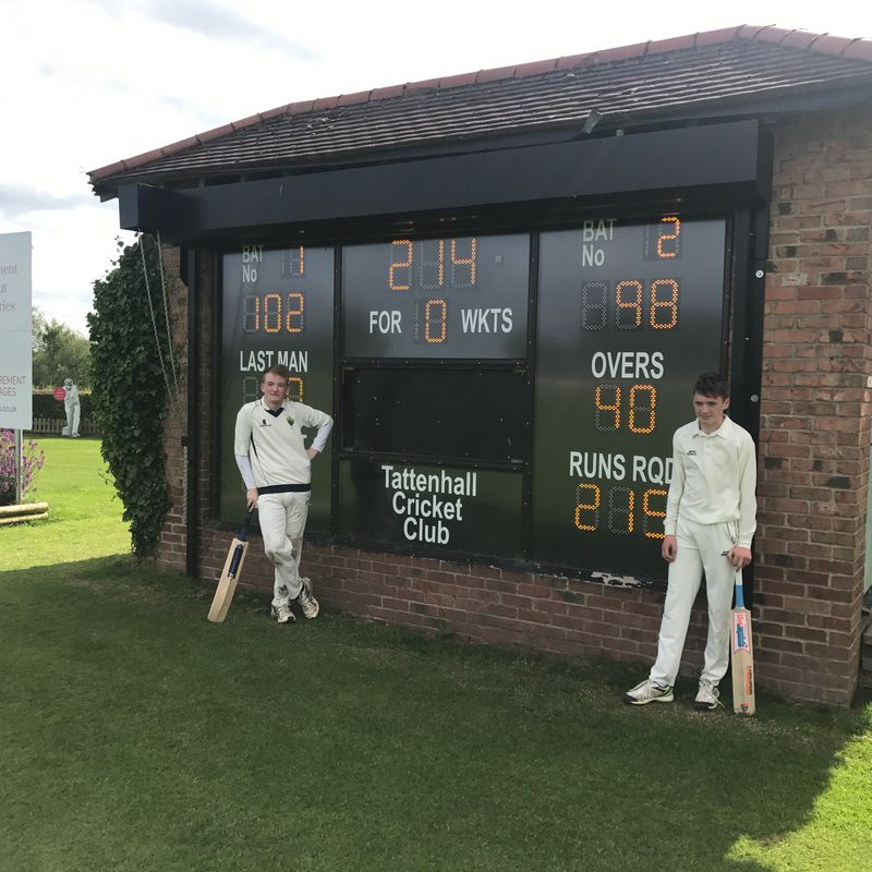 Day of Records as Max Harper and Dane Tinsley share 214 Partnership
