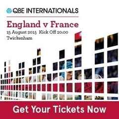 ENGLAND V FRANCE Buy your tickets here