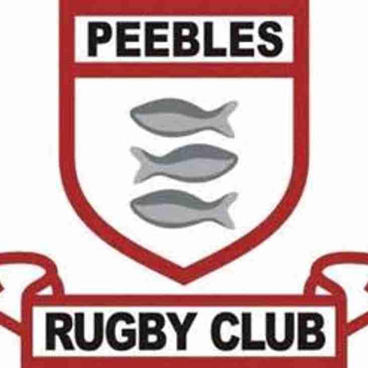 Peebles Rugby Club Forwards Coach Advert 2017/18